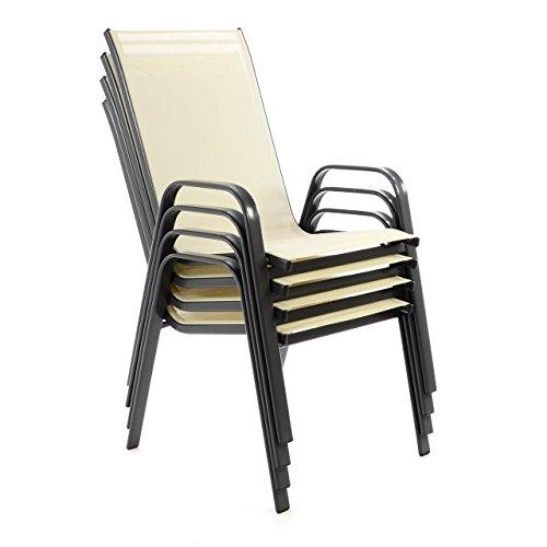 4er set balkonst hle stapelbar stahl rahmen. Black Bedroom Furniture Sets. Home Design Ideas