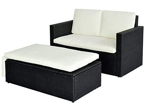 poly rattan sofa schwarz. Black Bedroom Furniture Sets. Home Design Ideas