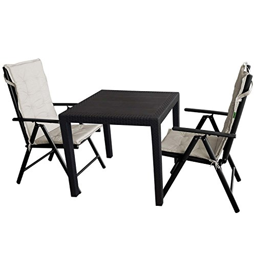 5tlg balkonm bel gruppe rattan optik. Black Bedroom Furniture Sets. Home Design Ideas