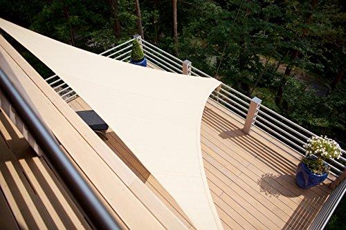 Sonnensegel für den Balkon in beige