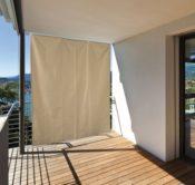 Balkon Sonnenschutz vertikal uni
