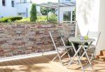 Sichtschutz Design Steinmauer