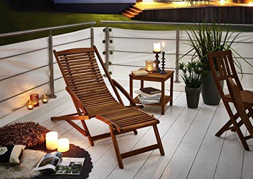 akazie holz liege stuhl platzsparend. Black Bedroom Furniture Sets. Home Design Ideas