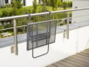 Balkonhängetisch Anthrazit
