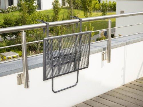 balkonh ngetisch anthrazit zum einh ngen. Black Bedroom Furniture Sets. Home Design Ideas