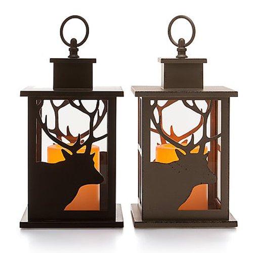set led laternen inkl kerze mit timer. Black Bedroom Furniture Sets. Home Design Ideas
