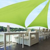 Sonnensegel wasserabweisend imprägniert grün