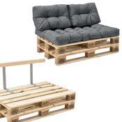 Palettensofa - 2-Sitzer mit Kissen