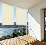 Sonnenschutz Rollo Balkon beige
