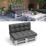Palettenkissen Set Sitz- und Rückenkissen