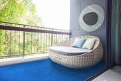 Balkonteppich Blau