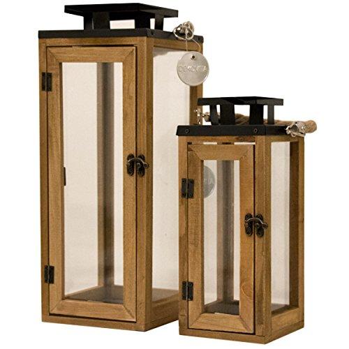 set holz laternen inkl windlicht. Black Bedroom Furniture Sets. Home Design Ideas