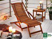 Akazie Holz Liege-Stuhl