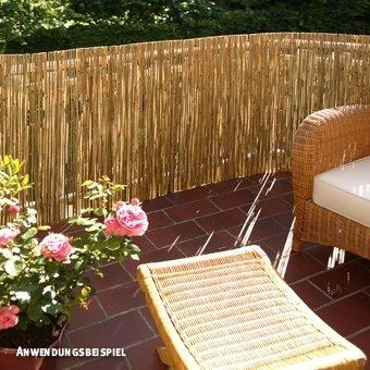 Balkon Sichtschutzmatte Holz