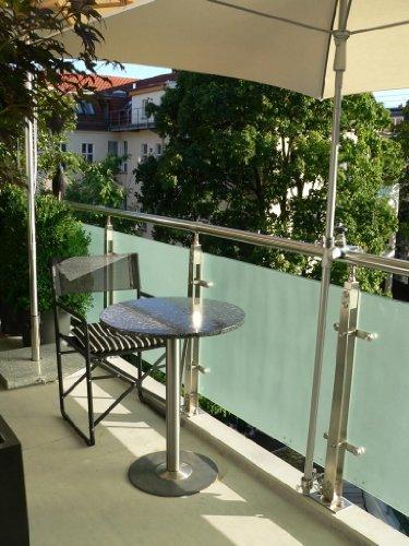 balkon schirm mit befestigung. Black Bedroom Furniture Sets. Home Design Ideas