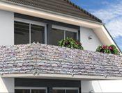 Sichtschutz Balkon - Steinoptik