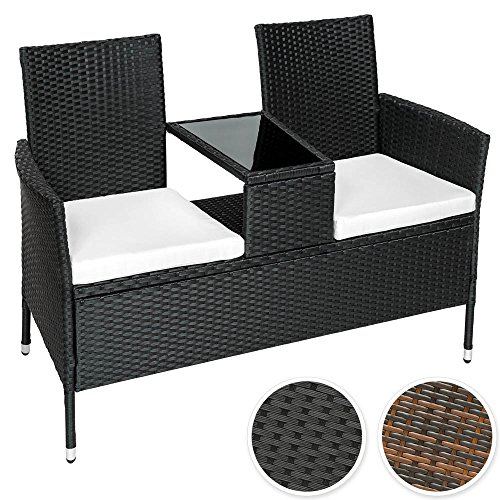 sitzbank mit tisch poly rattan. Black Bedroom Furniture Sets. Home Design Ideas