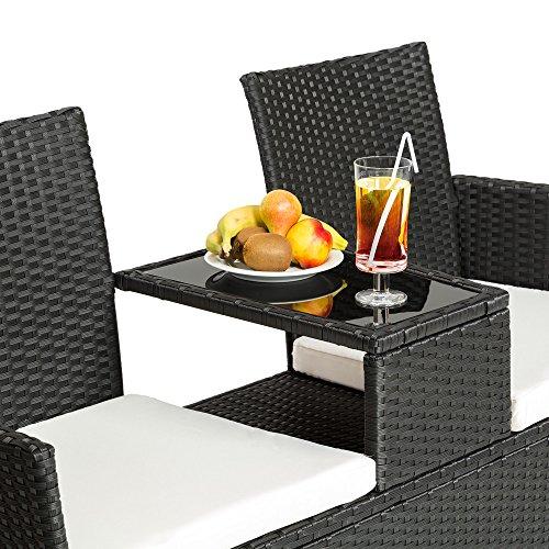 sitzbank mit tisch poly rattan. Black Bedroom Furniture Sets. Home Design Ideas