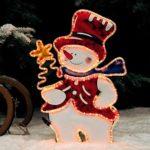 Leucht-Schneemann für draußen