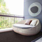 Balkonteppich Braun