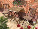 Balkonset Klappsstühle + Tisch
