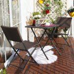 Balkonset Tisch und Klappstühle