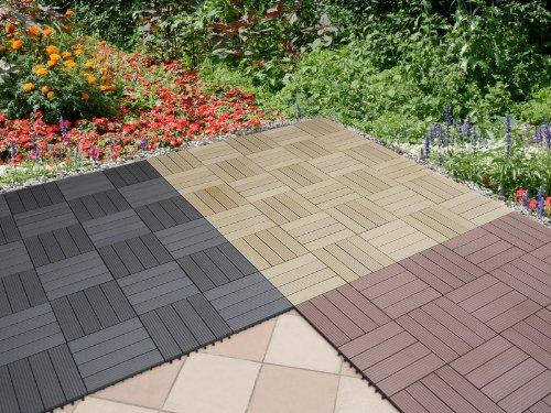 balkonfliesen bambusholz kunststoff. Black Bedroom Furniture Sets. Home Design Ideas