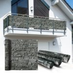 Balkon Sichtschutz Schiefer