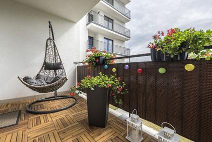 Balkon Sichtschutz uni
