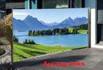 Sichtschutz mit Fotodruck Berge