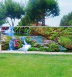 Garten Fotodruck auf Balkon Sichtschutz